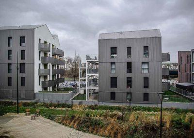 Nouveaux immeubles du Jardin Fatima Beddar, St Denis par Julien Barret