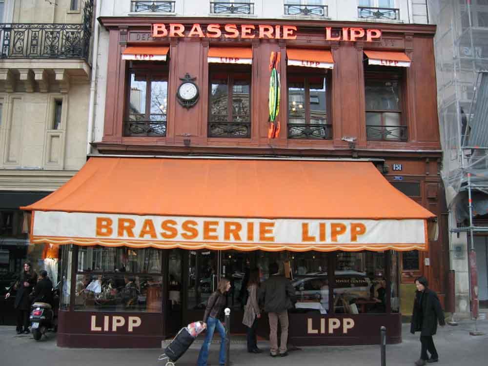 La devanture de la Brasserie Lipp ©Arnaud-25