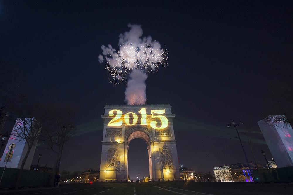 Nouvel An sur les champs Elysees - Paris - 31/12/2014