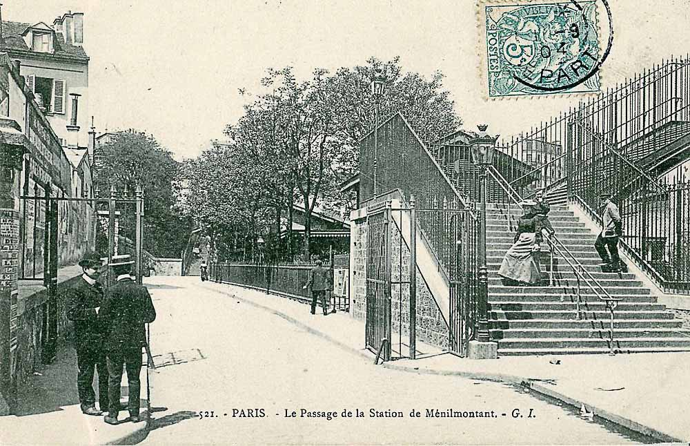 Le passage de la station de Ménilmontant scanné par Claude Shoshany
