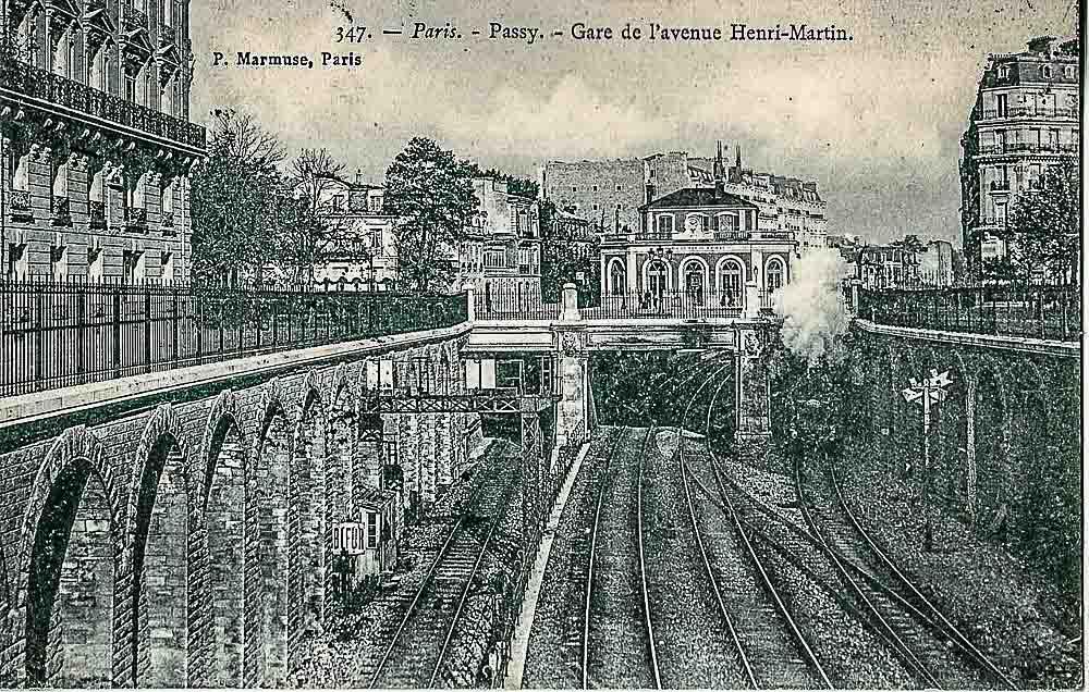 Passy -Gare de l'avenue Henri-Martin By Scanné par Claude Villetaneuse