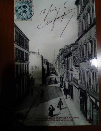 La rue du château prise depuis la passerelle, collection de J.L. Celati