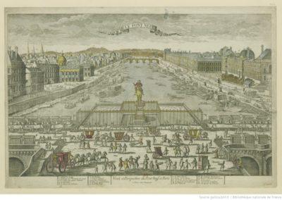 Vue et perspective du Pont Neuf à Paris - [estampe]