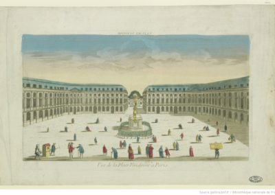 Vue de la place Vendôme à Paris - [estampe]