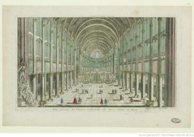 Vue intérieur [intérieure] de l'Eglise Cathédrale de Notre Dame de Paris - [estampe] 1770