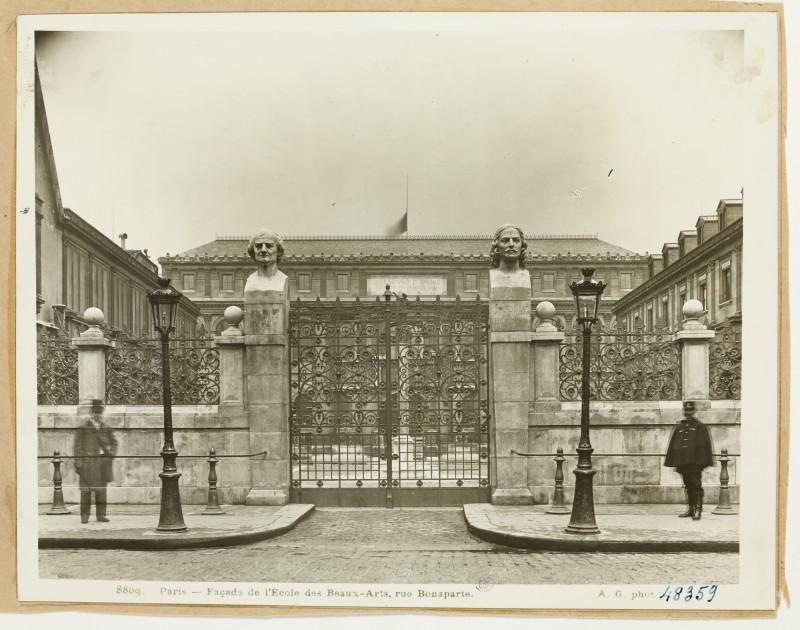 Anonyme, Façade de l'Ecole des Beaux-Arts, rue Bonaparte(1936)