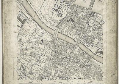 Histoire topographique et arch+®ologique de l'ancien Paris _ Plan de restitution, feuille X par Lenoir et Berty ; E. Ollivier sculps @Gallic