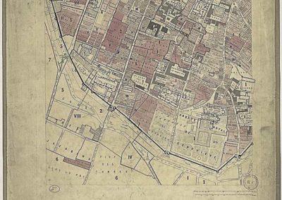 Plan archéologique de Paris _ feuille XIV (universit+®) dress+® par Albert Lenoir et Adolphe Berty @Gallica