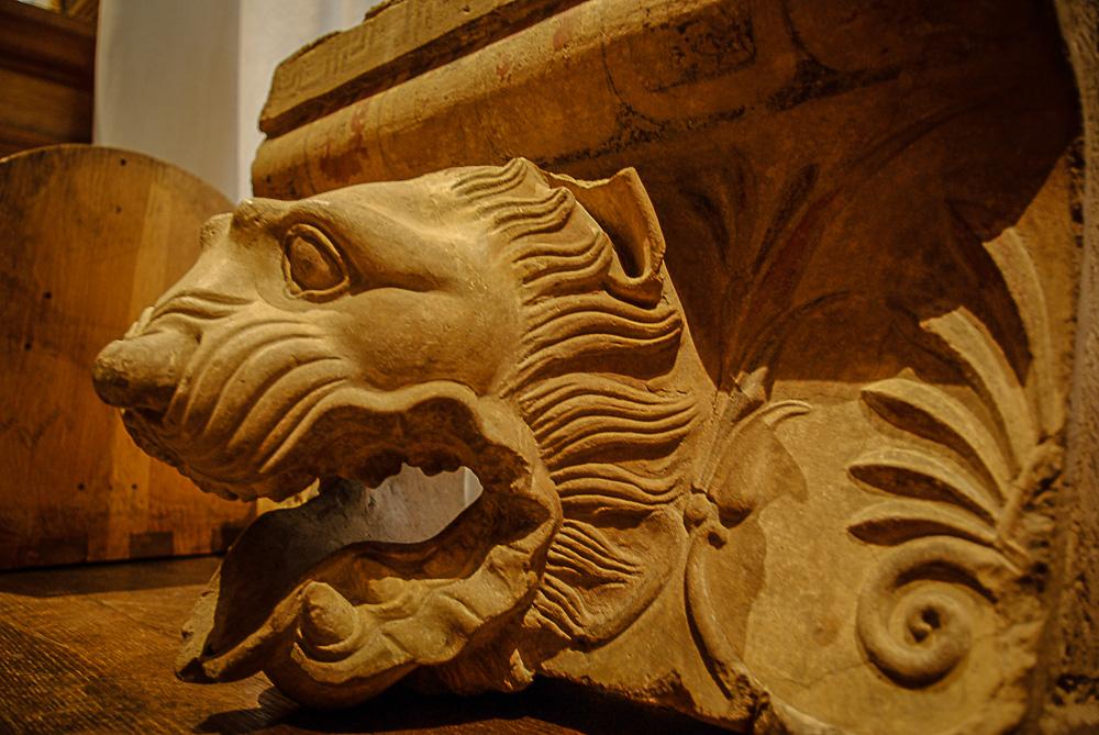 tête de lion dans la salle des études des beaux arts par Julien Barret