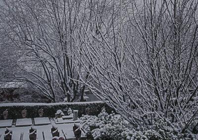 Le cimetière des Lilas enneigé 28 par J. Barret