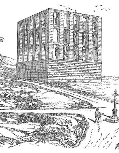 Illustration issue du Dictionnaire raisonné de l'architecture française du XIe au XVIe siècle, par Eugène Viollet-le-Duc, 1856