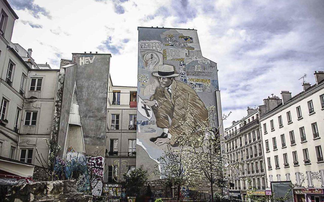 La place Fréhel à Belleville, carrefour du street art