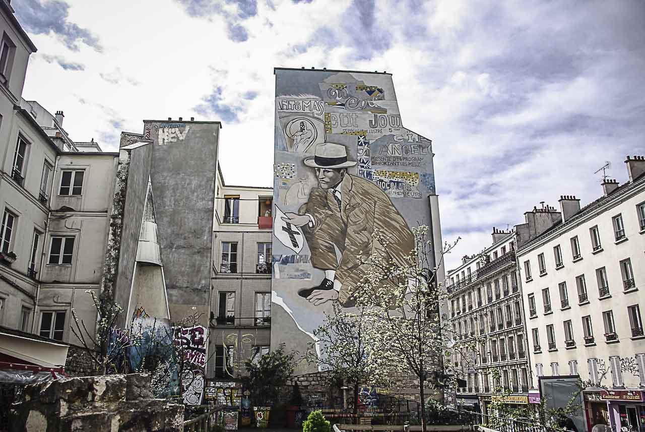 la fresque de Jean Le Gac et le cône de Marie Bourget par J. barret