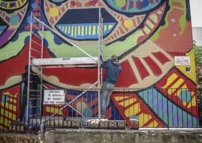 Da Cruz à l'oeuvre rue des Périchaux par J Barret