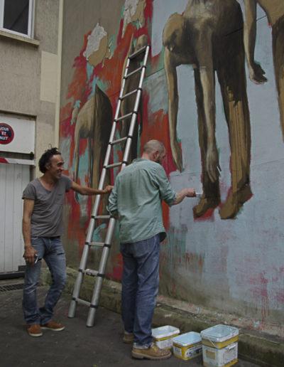 Flokicol avec Philippe Hérard rue des Couronnes par J Barret