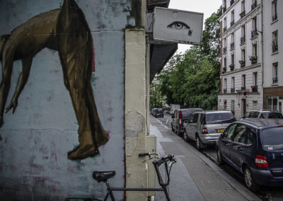 La fresque de Philippe Hérard rue des Couronnes