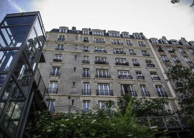 l'ascenseur de la rue O de Serres par J Barret