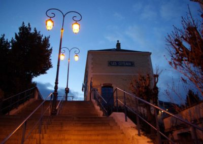 Une photo pittoresque : la gare de tram des Coteaux