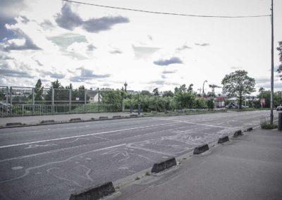 sur le Pont de l'avenue Barbusse à Bobigny par J. Barret