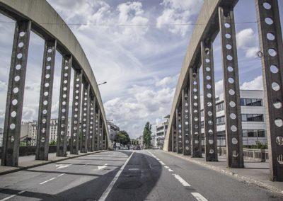 Le pont reliant Le Bourget à Drancy
