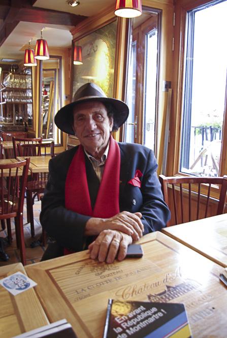 Alain Coquart, président de la République de Montmartre