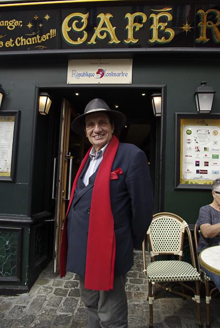 Alain coquard devant la bonne franquette @J Barret