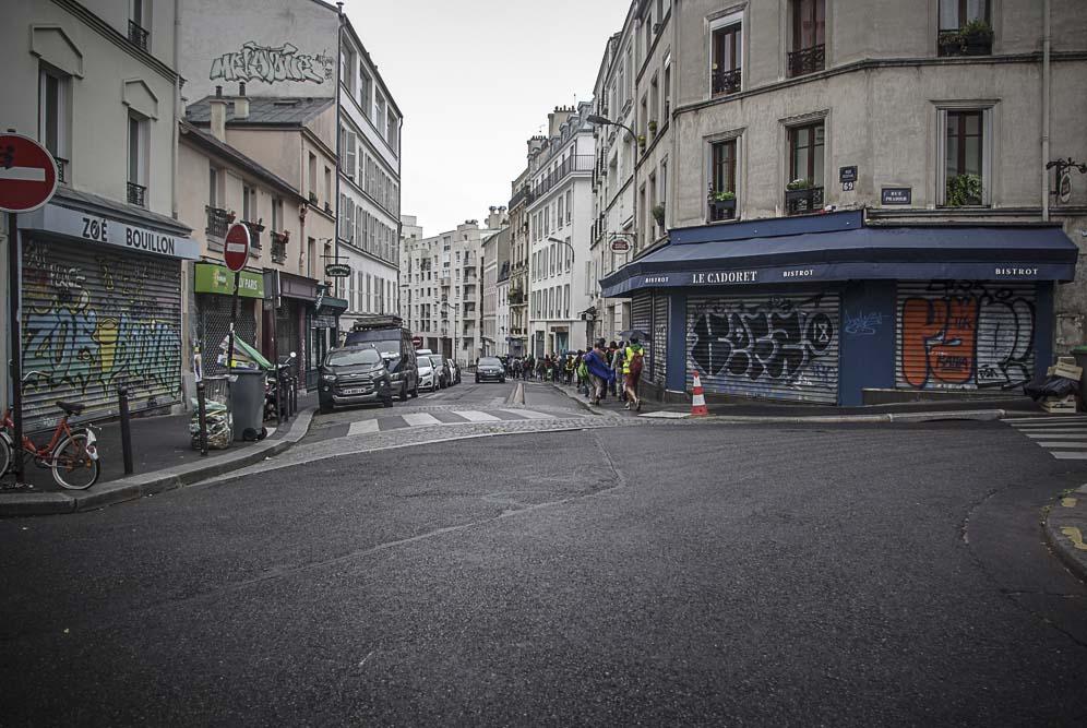 au croisement de la rue Rebeval ©J.Barret