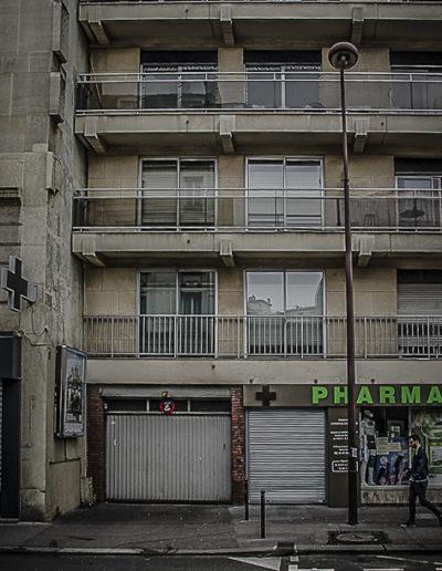 Vue actuelle du 17 rue de la Croix-Nivert, occupé par un immeuble des années 70. Crédit J. Barret.