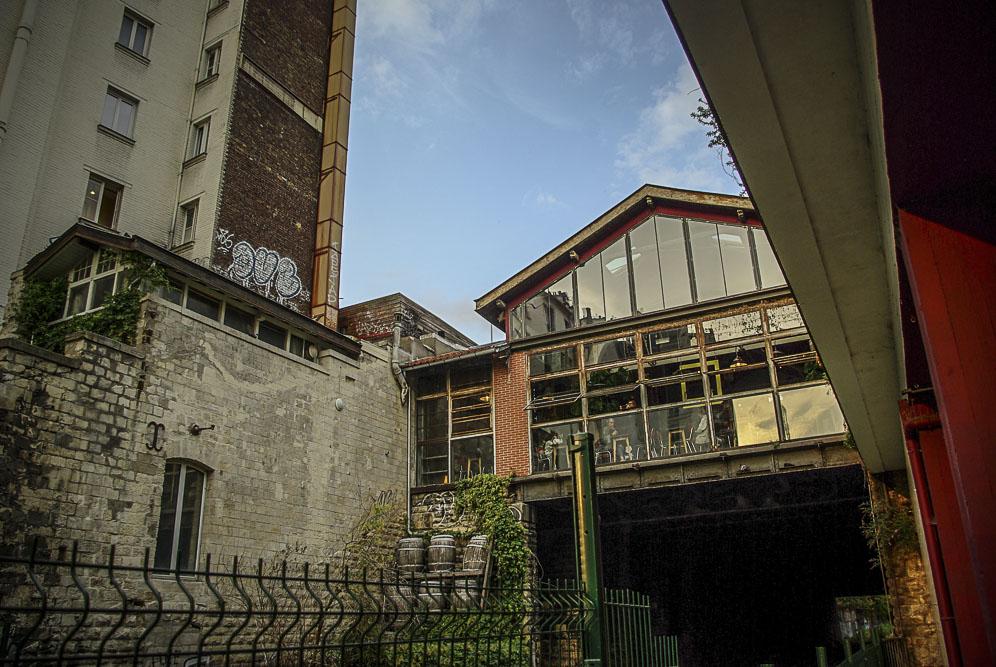 Le hall de la Recyclerie depuis son quai par J Barret