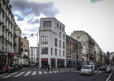 Vue actuelle du même angle, l'immeuble ayant été récemment réhabilité ©Julien Barret