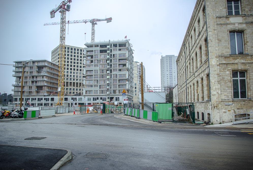 Vue du chantier de Chapelle International par J Barret