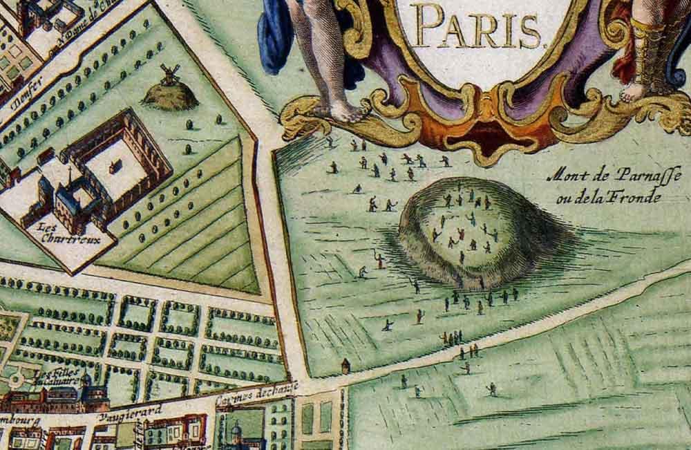 Détails du plan Lutetia Parisiorum vulgo Paris [1682], de Jan Janssonius