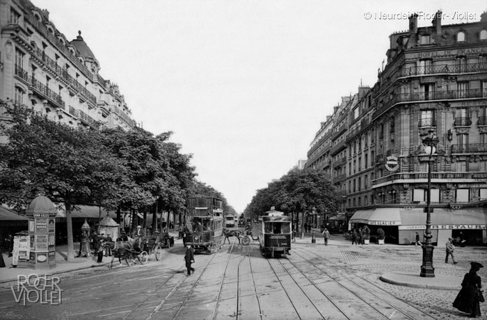 Paris, le boulevard du Montparnasse, vers 1900. Photographie Neurdein © NeurdeinRoger-Viollet